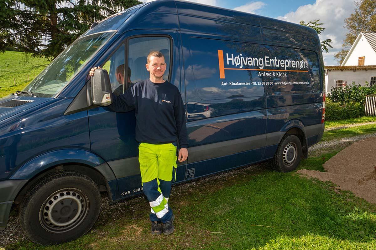 Højvang Entreprenør firmabil